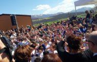 La nuova scuola elementare di Norcia: c'è anche un pezzo di Arezzo.