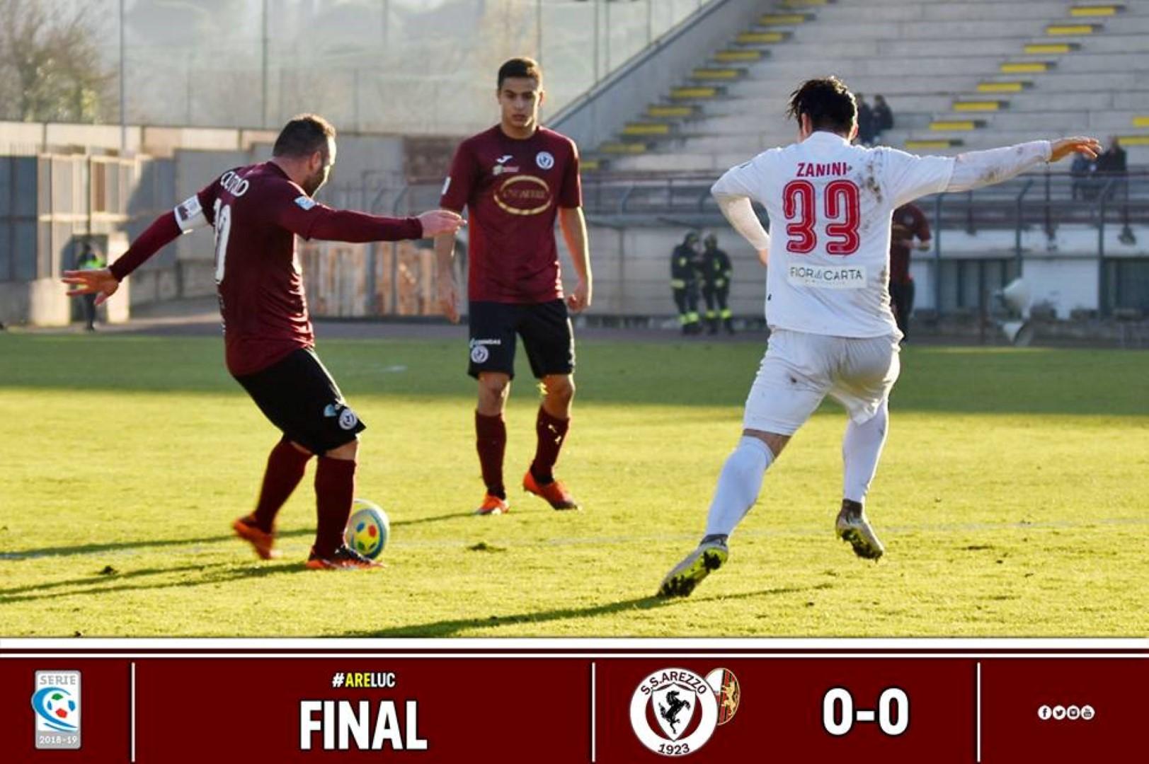 Calcio: Arezzo 0 - Lucchese 0