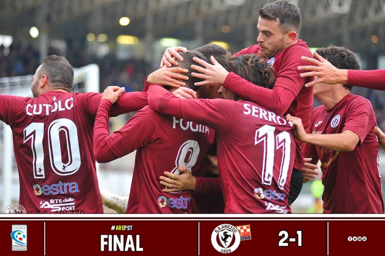 Calcio: Arezzo 2 – Pistoiese 1