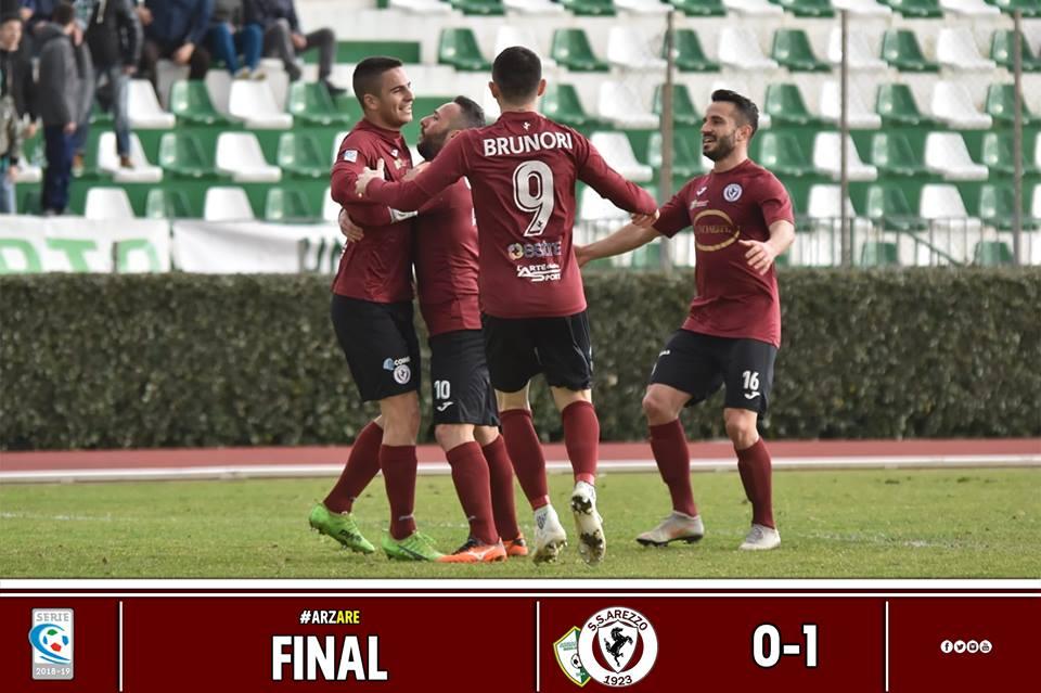 Calcio: Arzachena 0 – Arezzo 1