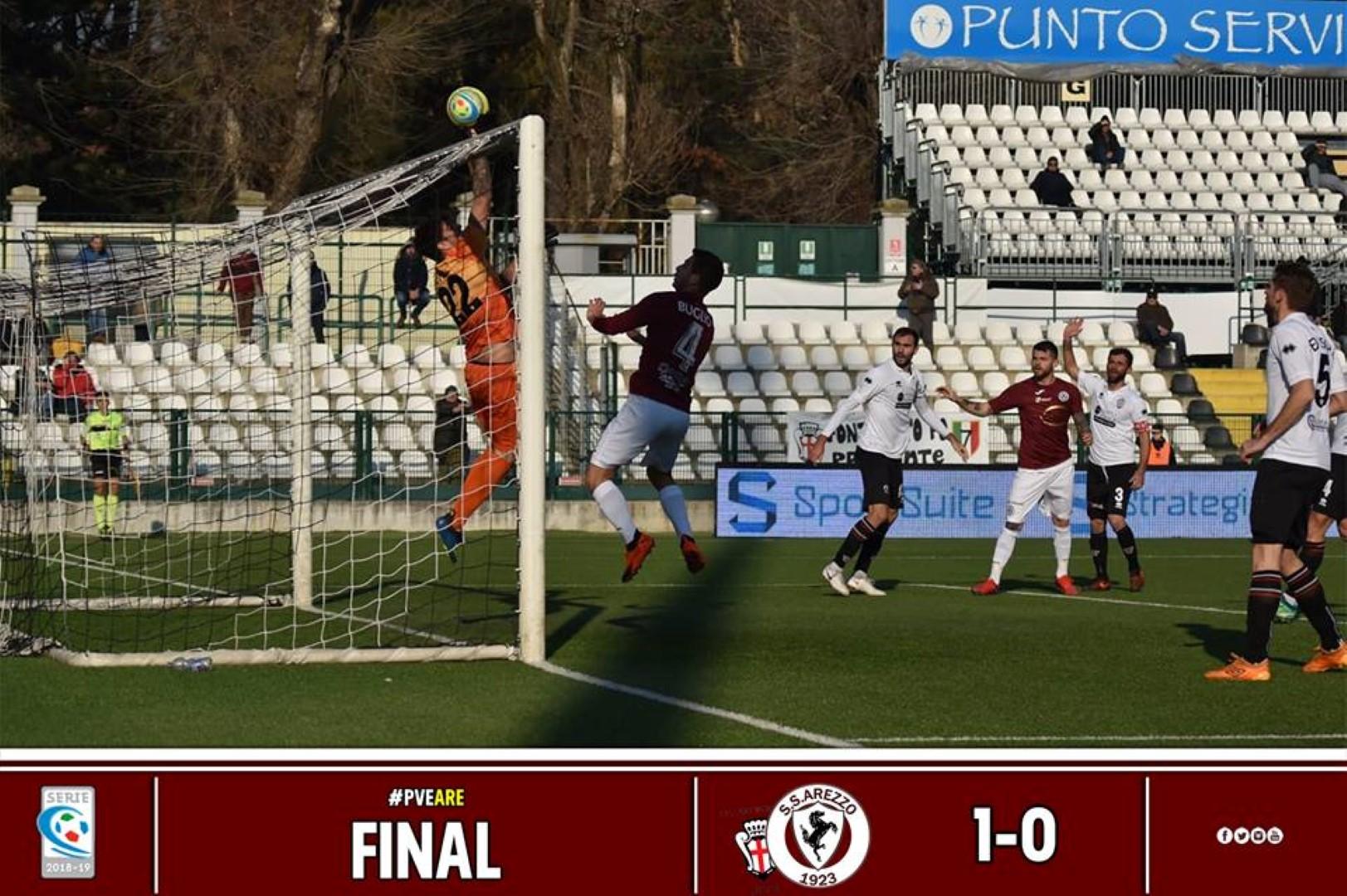 Calcio: Pro Vercelli 1 – Arezzo 0