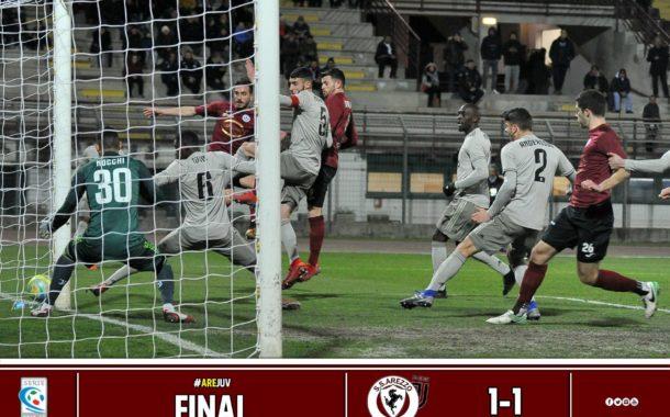 Calcio: Arezzo 1 – Juventus U23 1