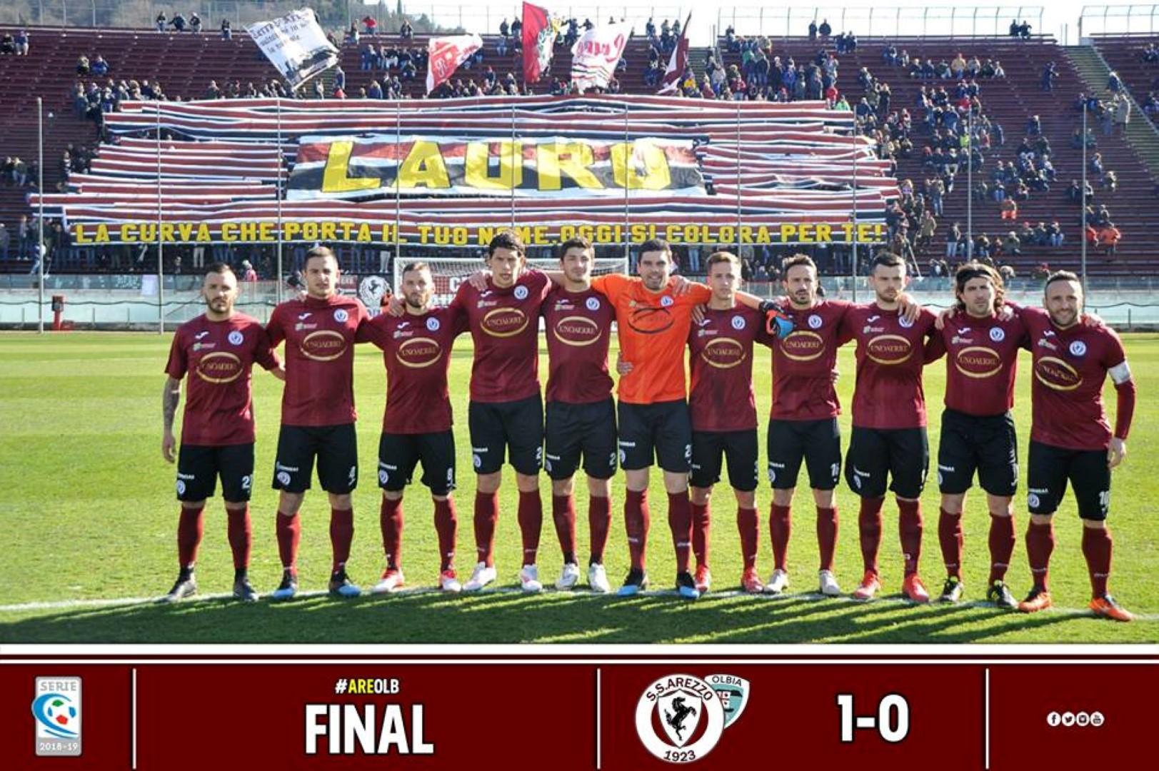 Calcio: Arezzo 1 – Olbia 0