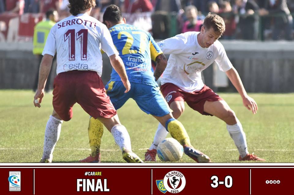 Calcio: Carrarese 3 – Arezzo 0