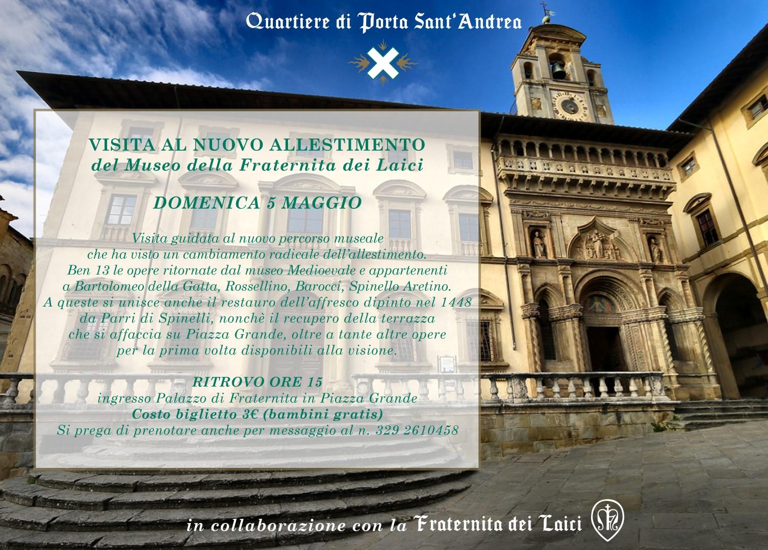 Porta Sant'Andrea: domenica 5 maggio la visita al nuovo allestimento del Museo di Fraternita