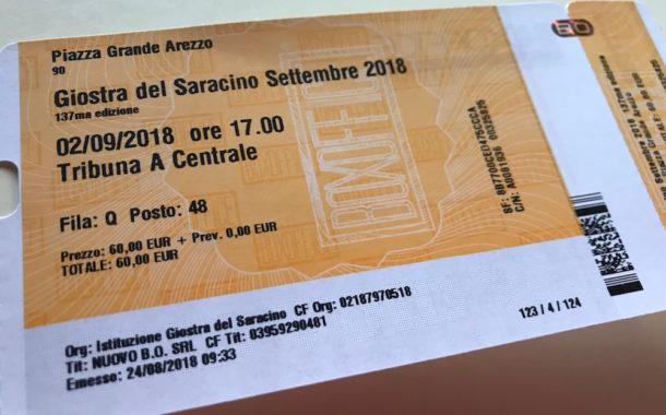 Giostra: dal 23 agosto la vendita dei biglietti
