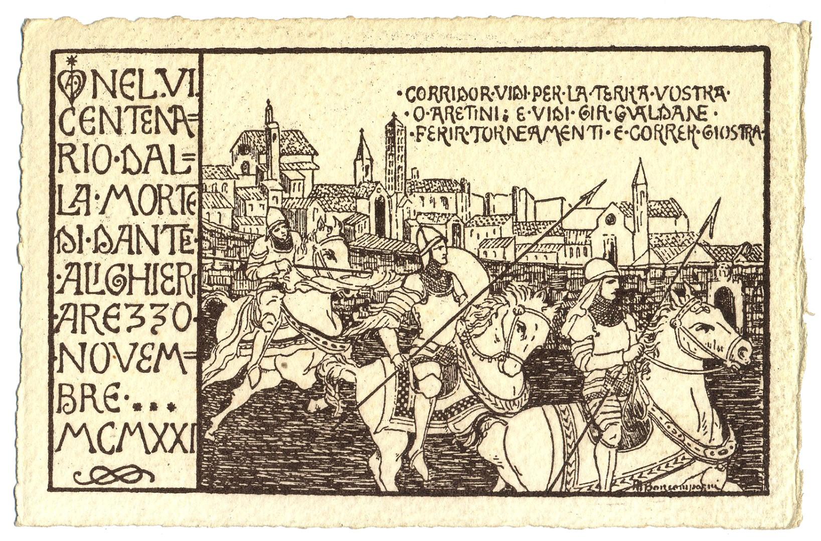 La Giostra di settembre sarà dedicata a Dante Alighieri
